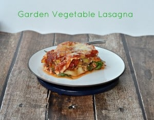 Garden Vegetable Lasagna is made with all the delicious vegetables and herbs from the garden!