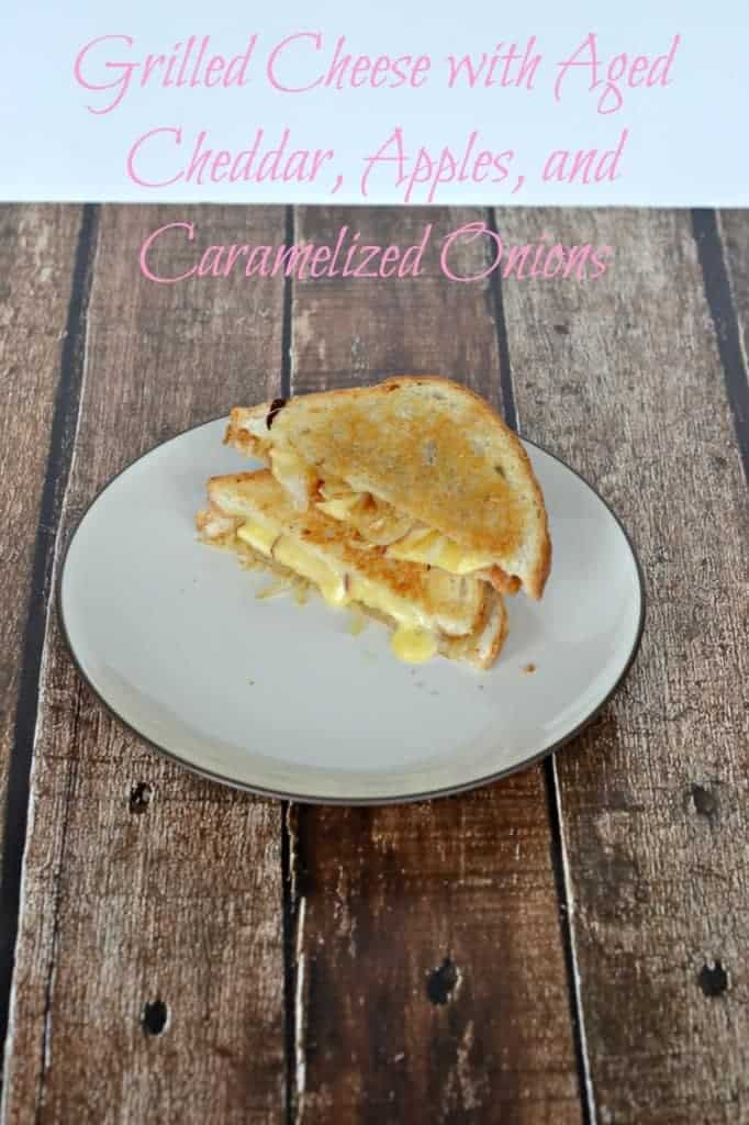 Grown Up Grilled Cheese with Aged Cheddar, Apples, and Caramelized Onions | Hezzi-D's Books and Cooks