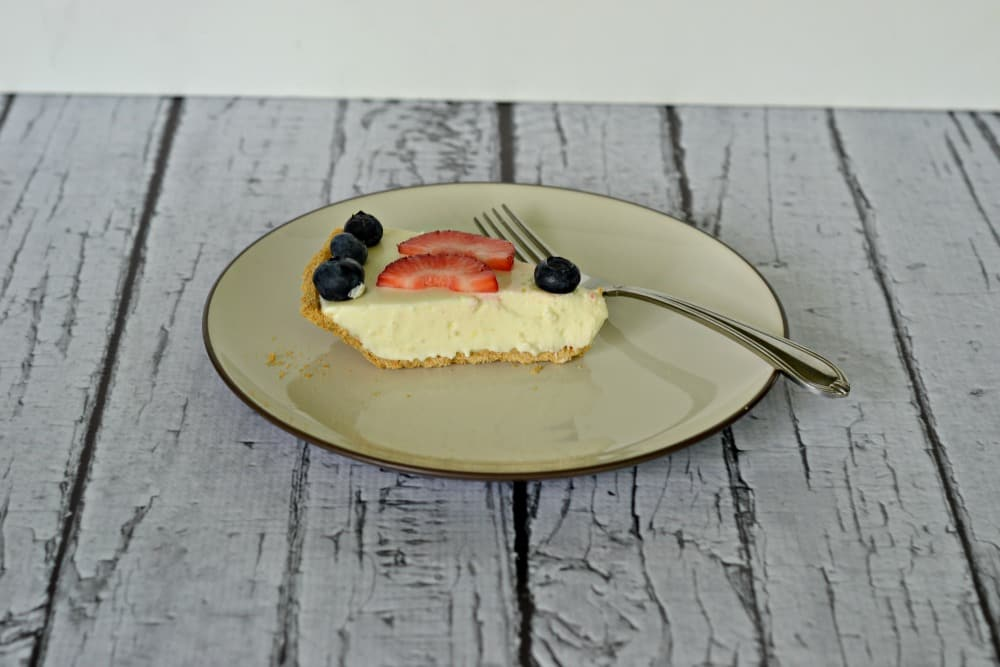 Delicious No Bake Cheesecake with fruit is perfect for summer