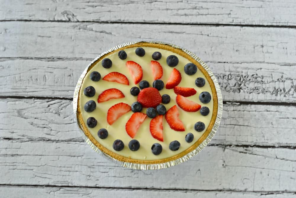 No bake cheesecake with fresh fruit | Hezzi-D's Books and Cooks | #SundaySupper