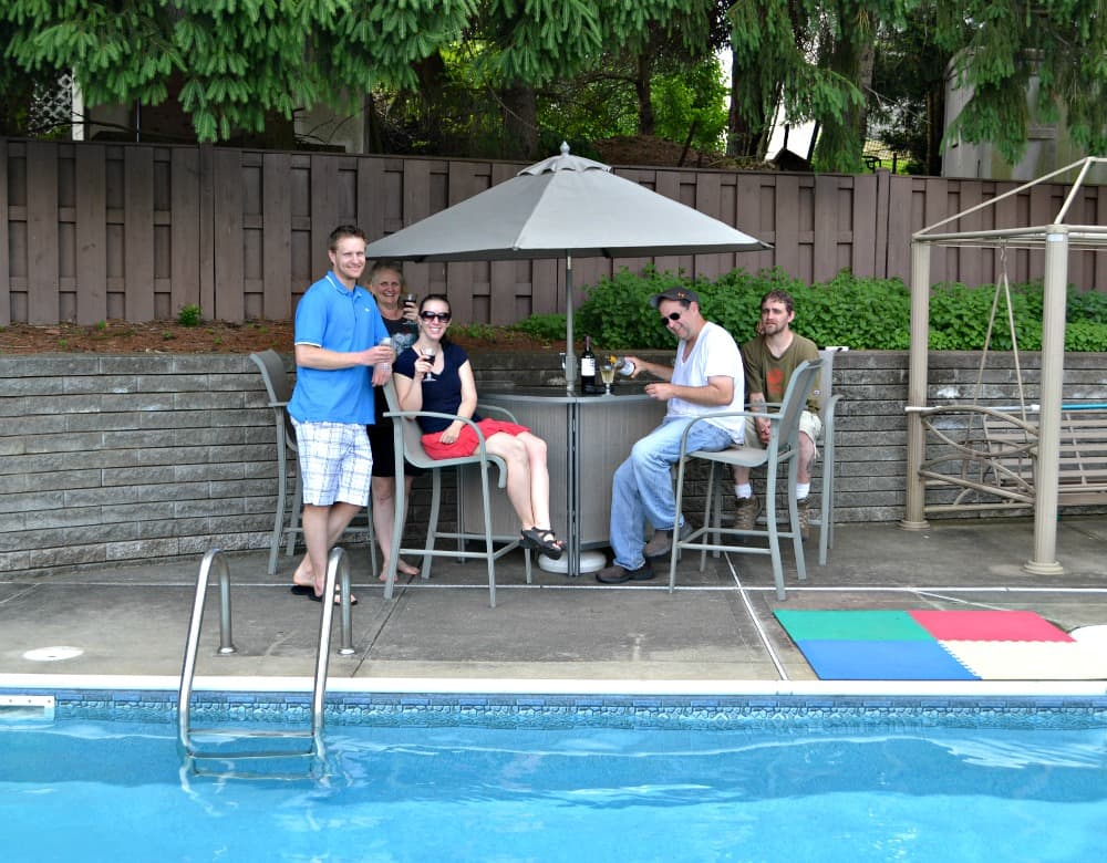Pool Party with CK Mondavi wines and my family!