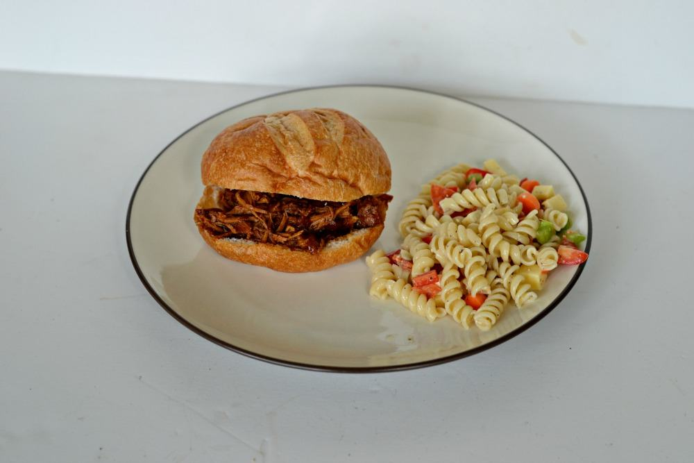 Dr. Spicy BBQ Pork sandwich | Hezzi-D's Books and Cooks