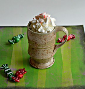 Spiked Candy Cane White Hot Chocolate #ChristmasWeek