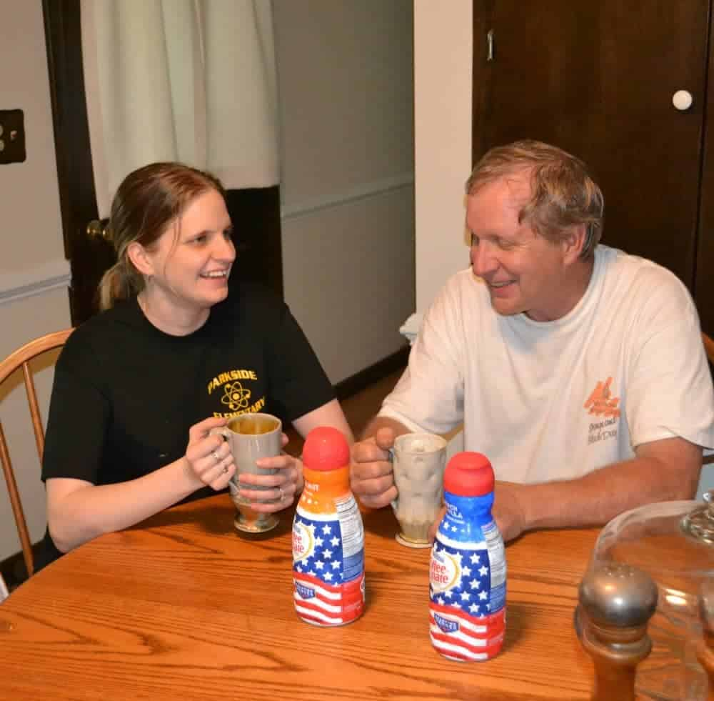 Coffee-Mate #CMSalutingHeroes Me and dad enjoying our coffee!