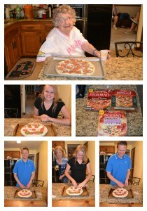 DIGIORNO pizza #summergoodies | My brother, great aunt, and cousin having fun with DIGIORNO Design a pizza kit