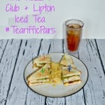 The Hezzi-D Club Sandwich with Lipton Iced Tea