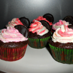 Peppermint Mocha Cupcakes with Peppermint Swirl Buttercream Icing #ChristmasWeek
