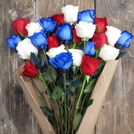 The Red, White, and Bouq flower bouquet for the 4th of July