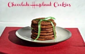 Chocolate Hazelnut Cookies #12WksXmasTreats