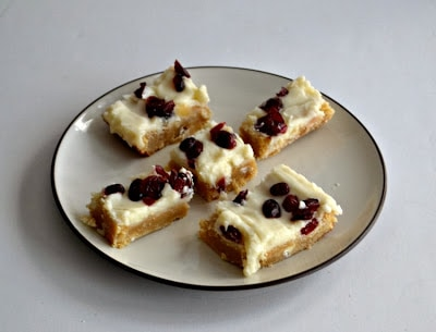 Cranberry Bliss Bars for #ChristmasWeek