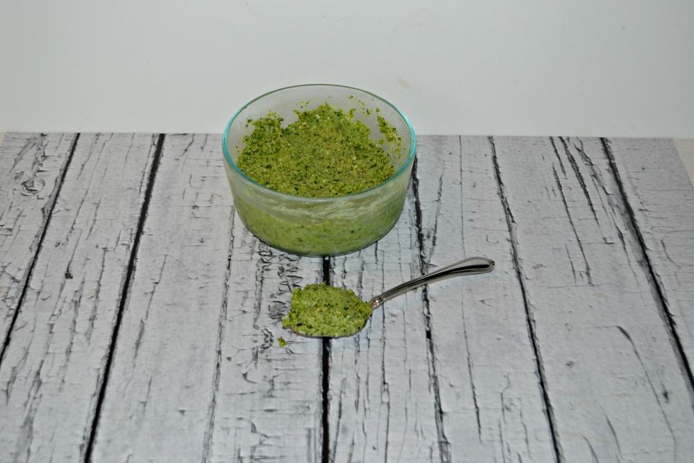 Kale and Garlic Scape Pesto is a great alternative to basil pesto