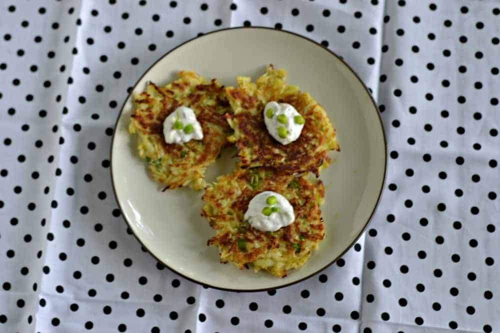 Kohlrabi fritters are similar to potato pancakes and just as delicious