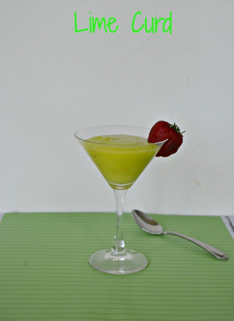 Homemade Lime Curd topped with strawberries | Hezzi-D's Books and Cooks