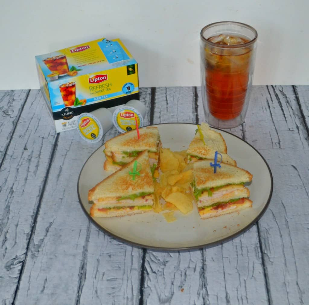 The Hezzi-D Club Sandwich with a refreshing glass of Lipton Iced Tea