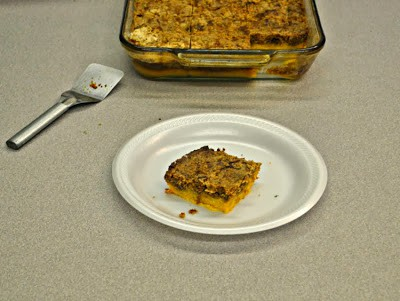 Pumpkin Pie Dump Cake-a layer of pie topped with a layer of cake!