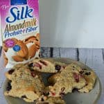 Red, White, and Blue Scones made with Silk Almondmilk
