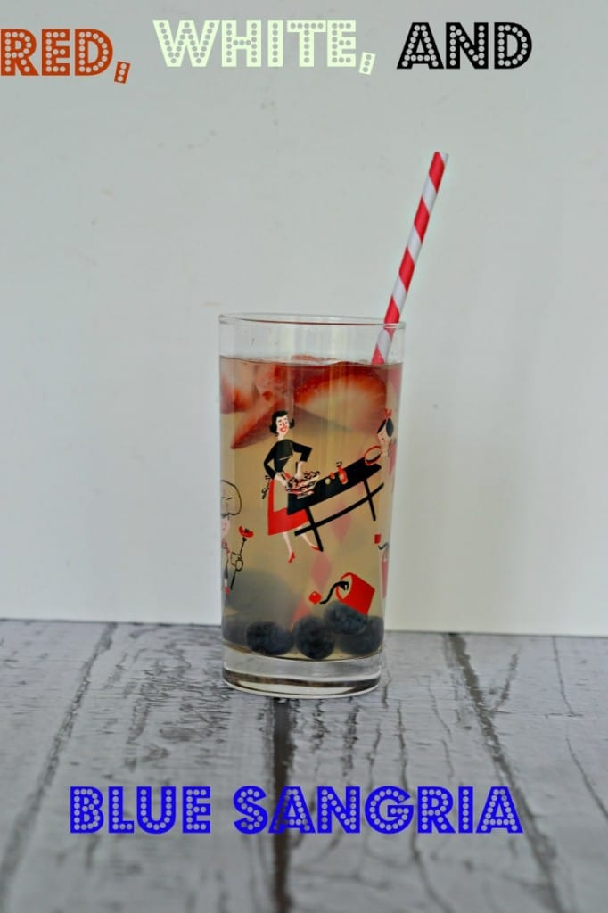 Red, White, and Blue Sangria is a fun and patriotic beverage!