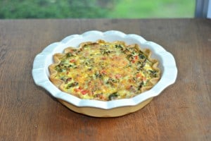 Kale, Hot Sausage, and Sweet Cheddar Quiche :  CSA Tuesdays