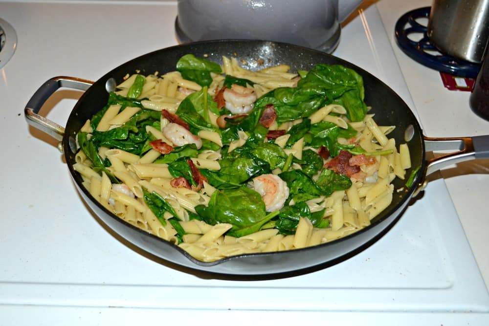 Shrimp and Bacon Pasta