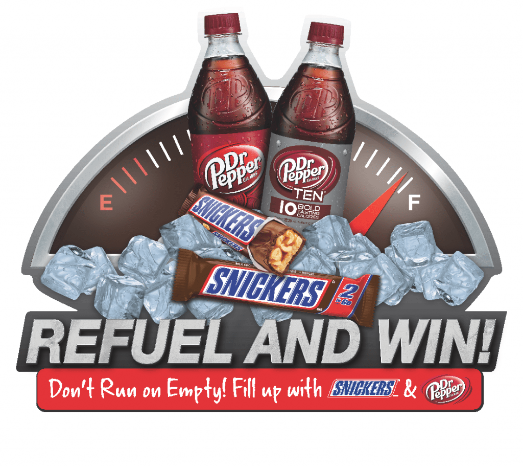 Refuel with SNICKERS and Dr Pepper and win!