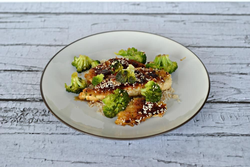 Sweet and Spicy Chili Chicken Strips with broccoli