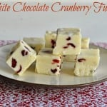 White Chocolate Cranberry Fudge: What's Baking and #12WksofXmasTreats