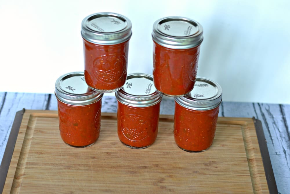 Homemade BBQ sauce that lasts all winter long!