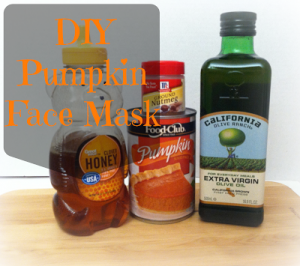 DIY Pumpkin Face Mask #pumpkinweek
