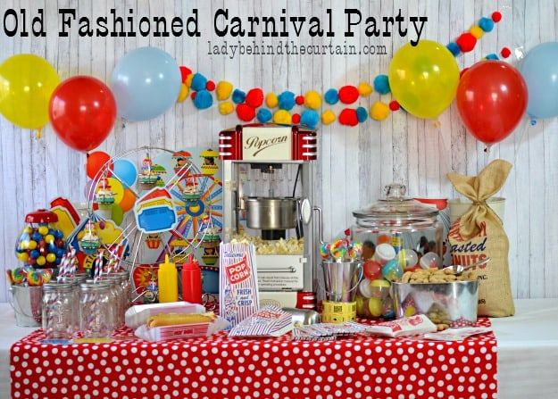 Old Fashioned Carnival Party - Lady Behind The Curtain