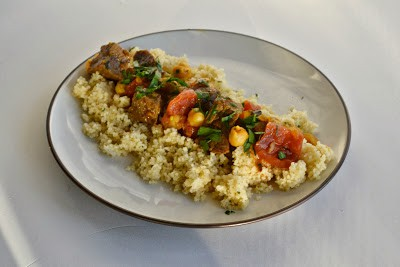 Beef Tagine (Beef, tomatoes, and chickpeas in a flavorful sauce)