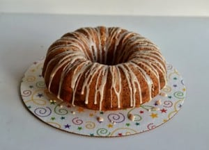 Spiced Bundt Cake with Berry Jam & Cream Cheese Swirl #BundtAMonth