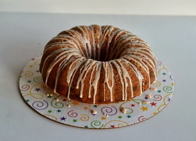 Spiced Bundt Cake with a Berry Jam and Cream Cheese Swirl