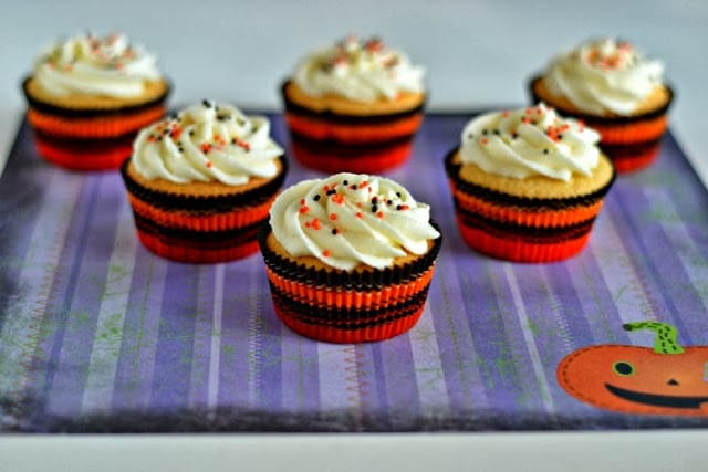 Candy Corn Cupcakes for Halloween from Hezzi-D's Books and Cooks