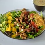Caribbean Cobb Salad with Bacon and a Spicy Pineapple Dressing