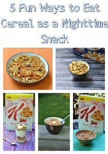 5 Fun Ways to Eat Kellogg's Cereal as a Nighttime Snack! #Goodnightsnack #Cbias