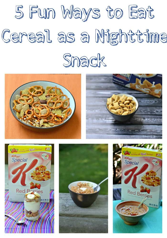 5 Fun Ways to eat Cereal as a Nighttime Snack