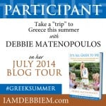 Zucchini Fritters + review of It's All Greek to Me by Debbie Matenopoulos