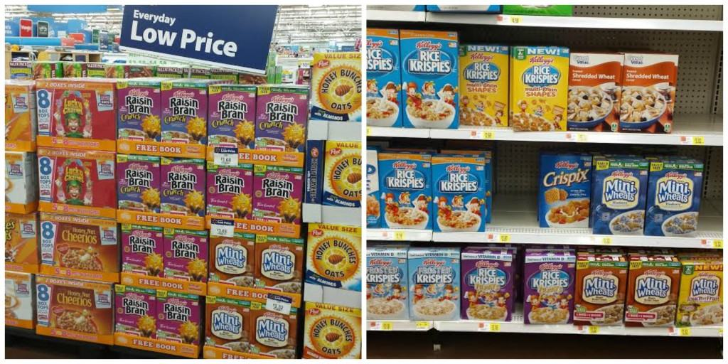 Kellogg's cereals are found in Walmart