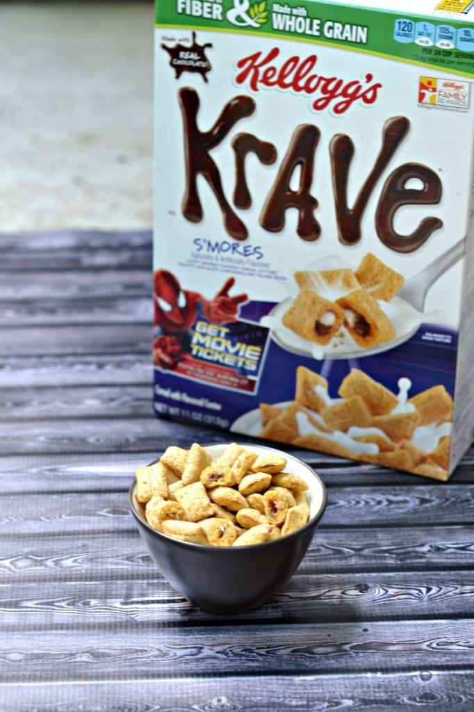 Krave S'mores cereal eaten as a late night snack