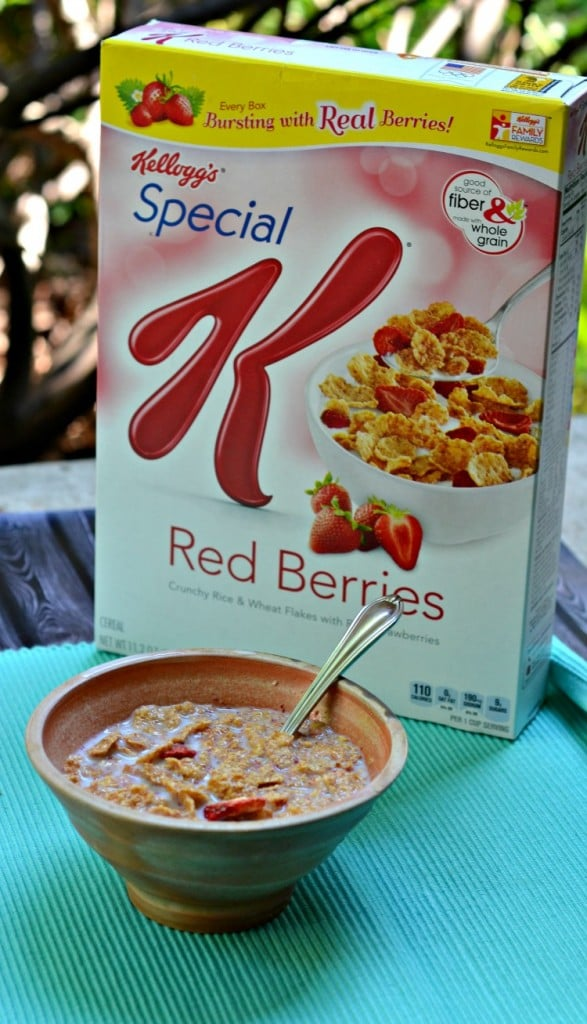 SPecial K Red Berries and milk!
