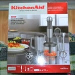 Baked Rotini with Tomatillo Tomato Sauce + a review of Kitchen-Aid 5 Speed Hand Blender