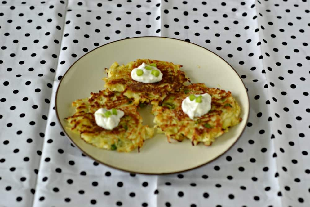 Kohlrabi Fritters with Yogurt Sauce | Hezzi-D's Books and Cooks