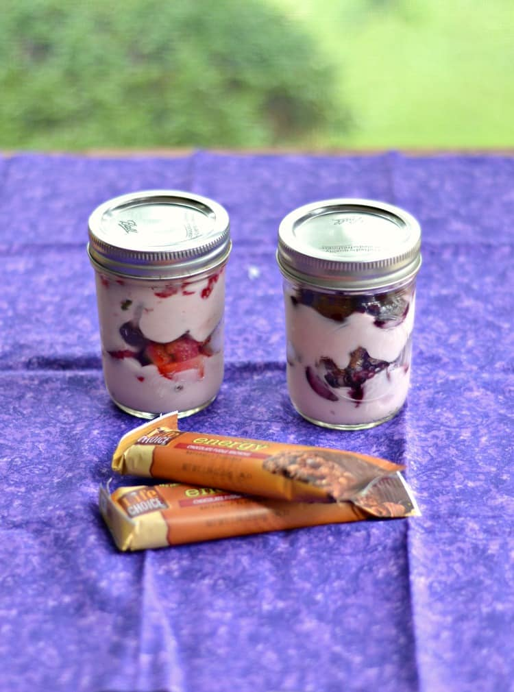 Chocolate Covered Cherry Parfaits in Jars are a great grab and go snack   Hezzi-D's Books and Cooks