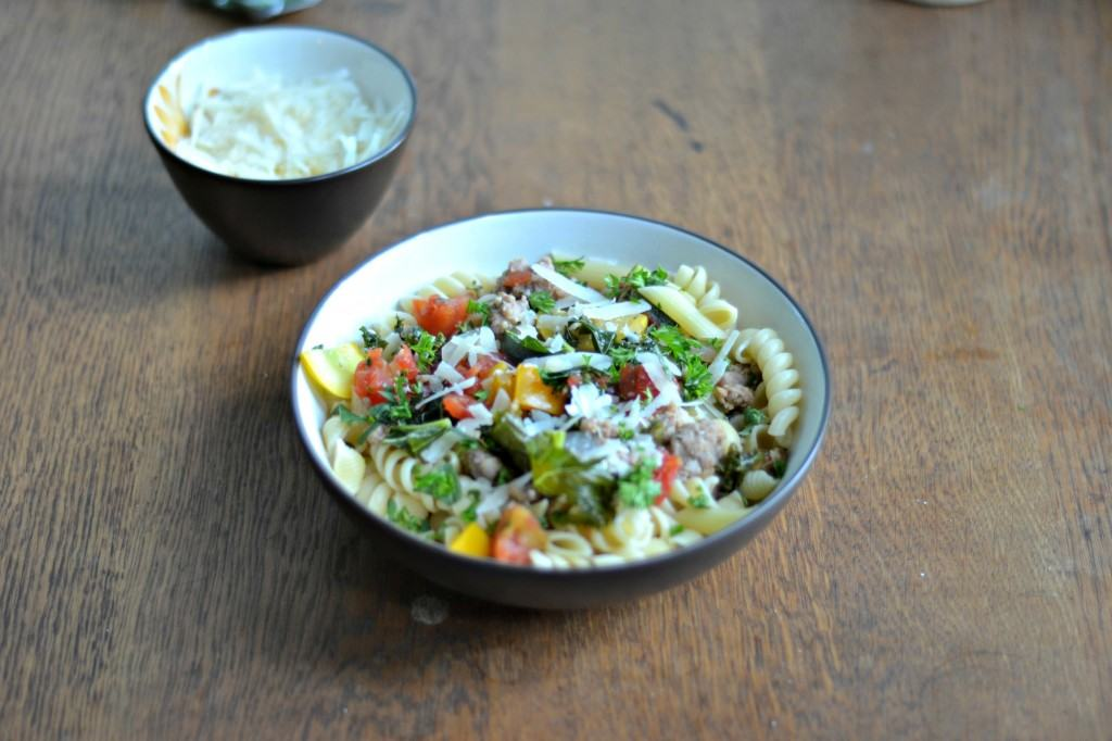 CSA Tuesdays:   Pasta with Summer Vegetables in a light sauce