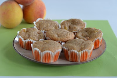 Moist and delicious Vegan Peach Cobbler cupcakes from Hezzi-D's Books and Cooks