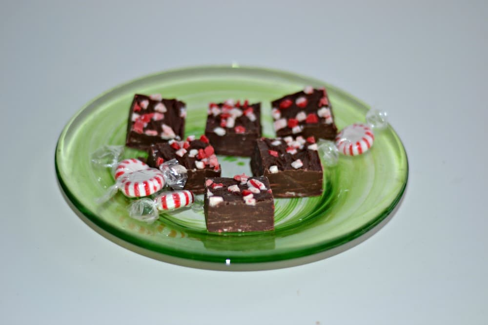 Easy Peppermint Fudge is great for serving at the holidays or giving as gifts!