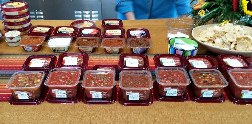 Collection of Sabra Salsa and Mediterranean Salads