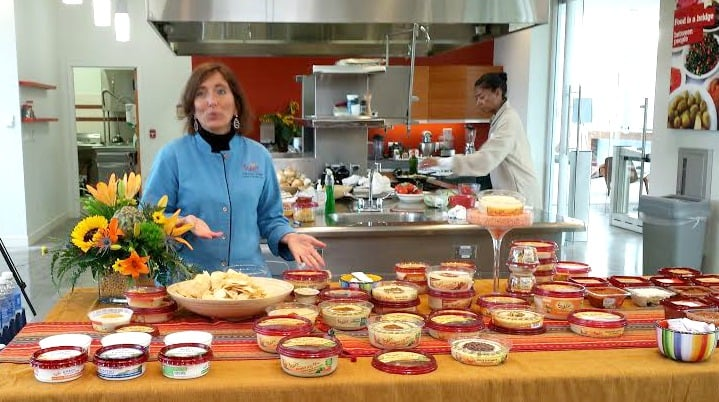 MaryDawn showing us the entire Sabra line of products