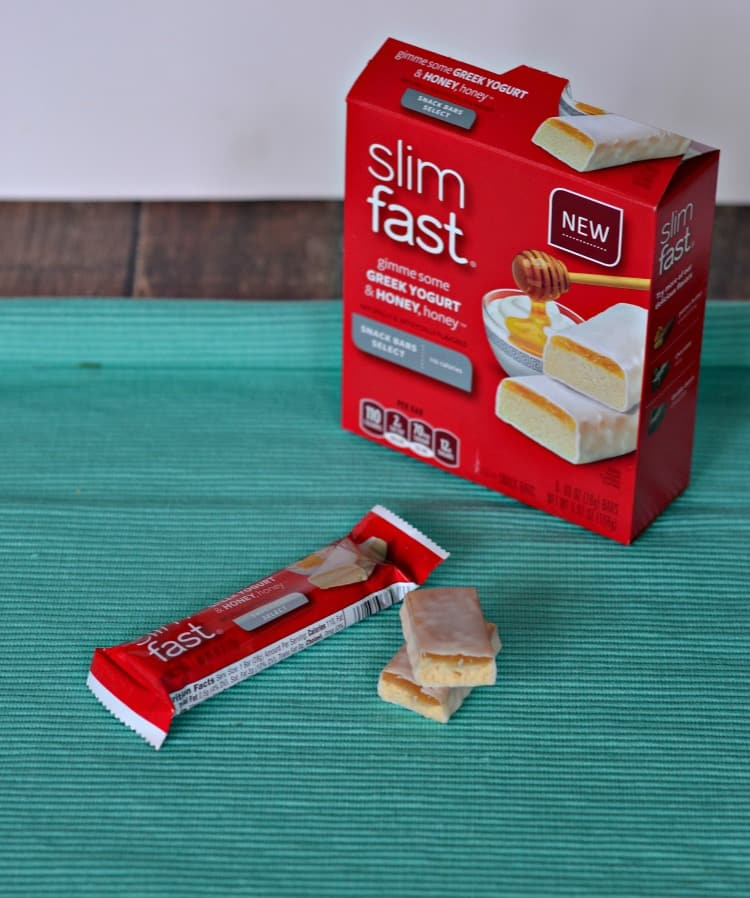 Slimfast has a delicious collection of snack bars including these Honey and Greek Yogurt bars