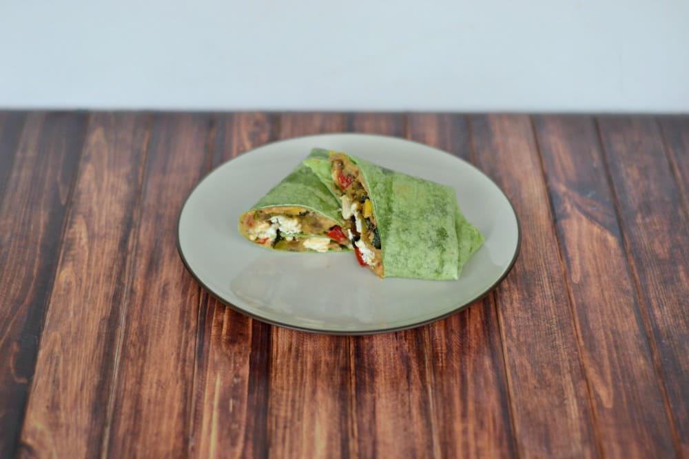 Sauteed Vegetable and Hummus Wraps are a delicious vegetarian meal!
